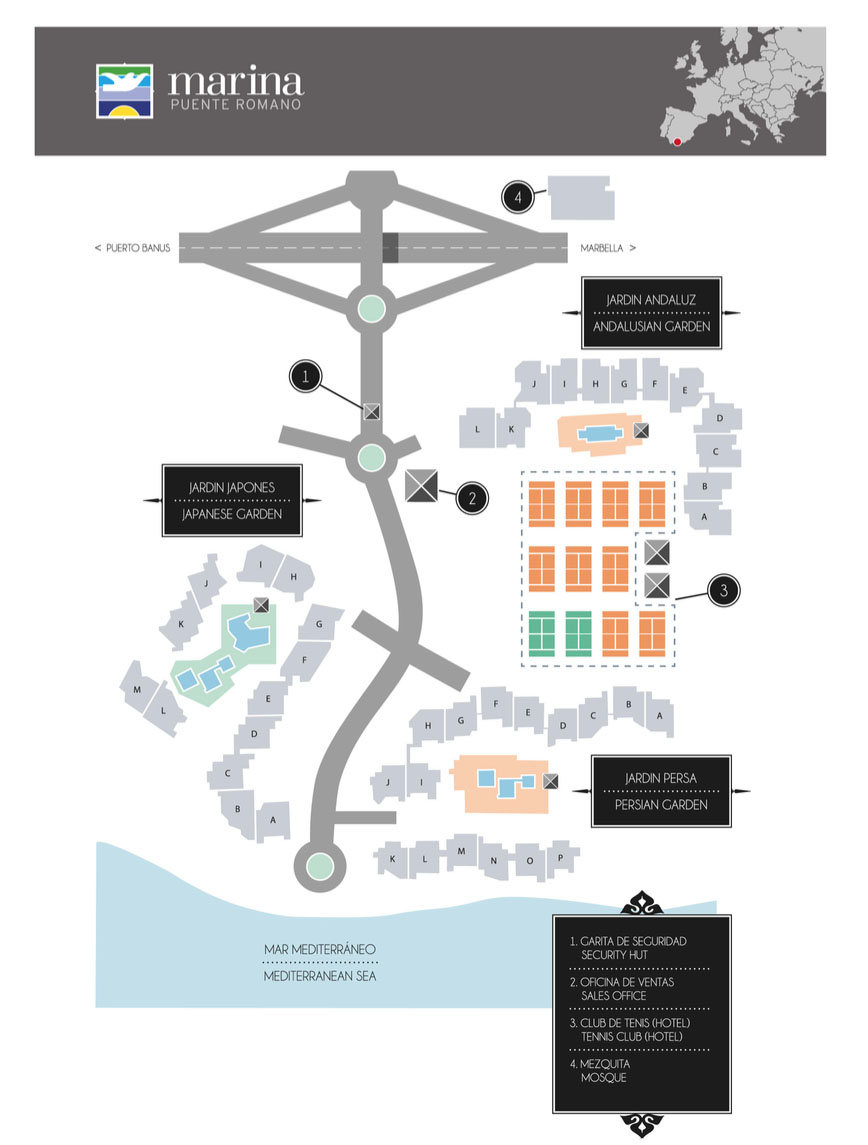 Mapa Marina Puente Romano